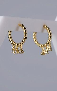 Hoop earrings zirconia