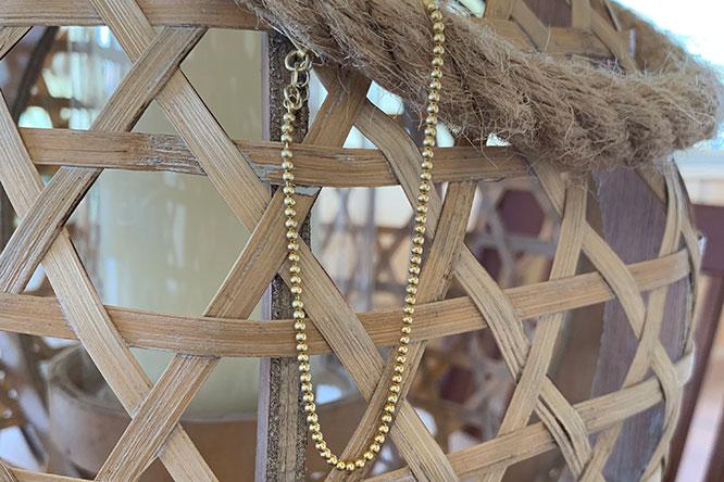 Gold plated ball bracelet
