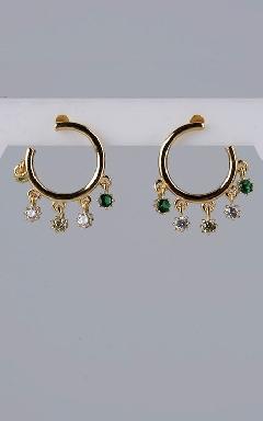 Hoop earring multicolor