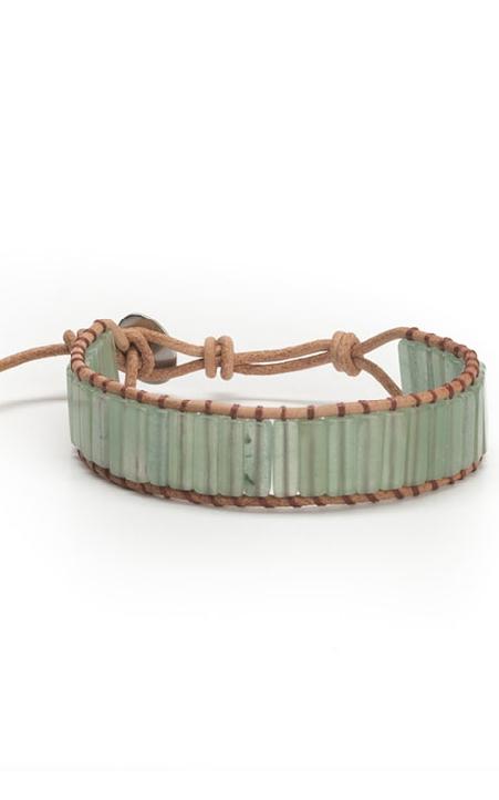 Green aventurine stone bracelet
